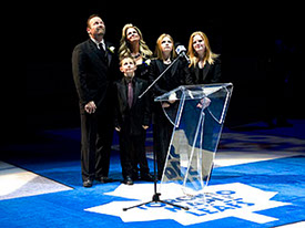 Wendel and Family at Number Raising Ceremony