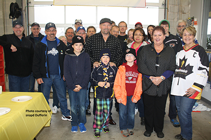 Wendel at the Meineke Grand Opening in Orangeville